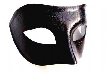 Genuine Venetian Black & Red Designer Mask
